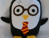 Plush Harry Potter Penguin Pillow, Baby Safe, Machine Wash and Dry