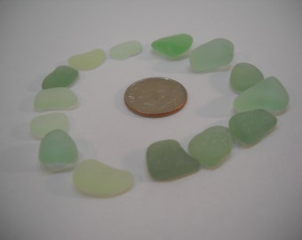 Genuine Shades Of Green Sea Glass From Pacific Northwest