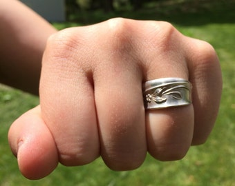 Spoon Ring - Sterling Silver - size 7.5