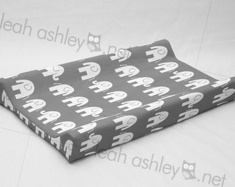 Changing Pad Cover Contoured - Gray Elephant - CP1