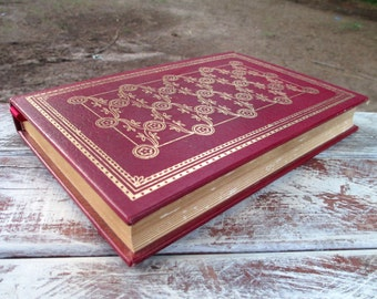 Hans Christian Andersen Fairy Tales Illustrated Leather Bound Book  Franklin Library 1982