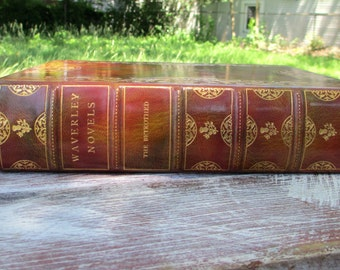 Antique Leather Bound Book The Betrothed by Walter Scott 1900 Limited Edition of 26 London