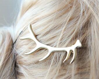 Antler Hair Pin / Deer Hair Accessories, Elk Antler Hair pin