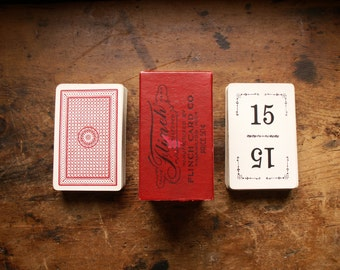 Vintage Flinch Number Playing Cards in Original Box - Great Wedding Table Numbers!
