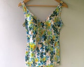 True Vintage Floral Hippie Bathing Suit - MADE IN ITALY
