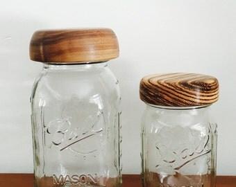 Wooden Mason Jar Lids