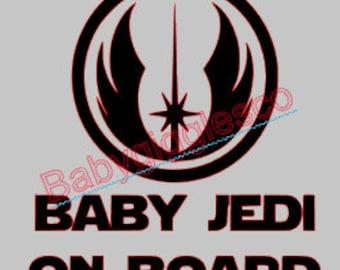 Baby On Board Baby Jedi Star Wars Car Decal Sticker