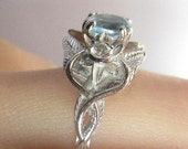 14K white gold Lord of the Rings Evenstar ring