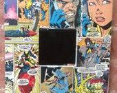 "Marvel original vintage Wolverine comic strip Art square, little 10"" mirror"