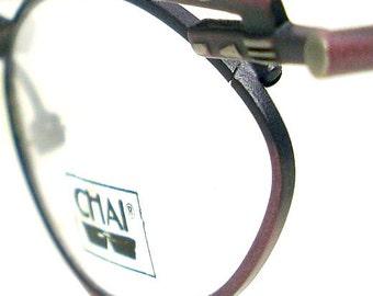 Vintage Antique Patterned Browline Bar Chai Glasses Eyeglasses Sunglasses New Frame Eyewear