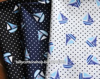 w546_45- sailor fabrics  - cotton fabrics - Half Yard ( 3 color to choose)