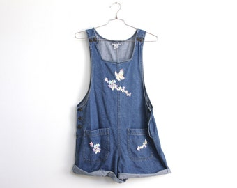 POP Jean Overalls, with star butterfly patches
