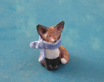 Little Red Fox with Scarf