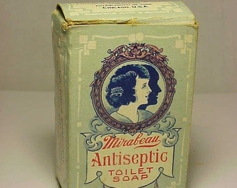 c1915 Mirabeau Antiseptic Toilet Soap Lincoln Chemical Works Chicago, ILL. , Perfume Soap Box