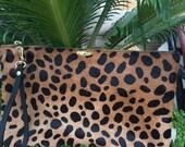 "Leopard Pouch 6 1/2"" x 10 1/2"""