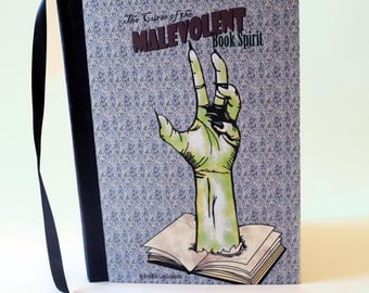 The Curse of the Malevolent Book Spirit Handmade Pop-up Book - PERSONALIZED