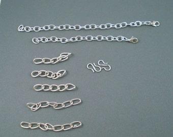 Destash Silver Finish Pieces Suitable for Extenders
