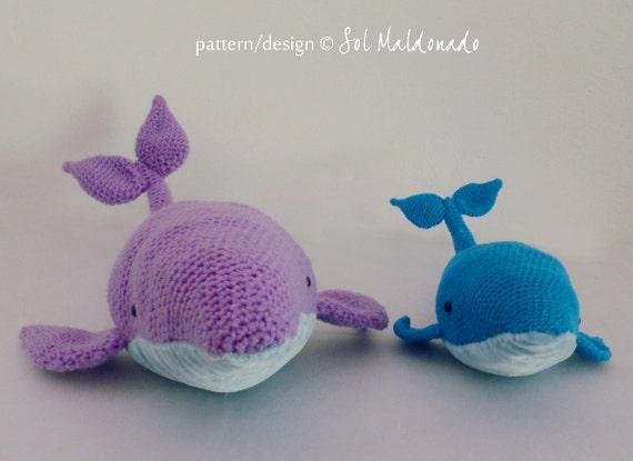 Crochet Amigurumi Blue Whale : Amigurumi Crochet Pattern Whale PDF - Blue Whales ...