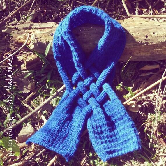 Knit Pattern Scarf PDF - Cowl neckwarmer knitting pattern - Unisex winter accessory - Instant Download
