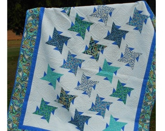Quilt Pattern -  Sweet Serenity Quilt Pattern - Throw to King Size  - PDF INSTANT DOWNLOAD