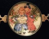 Vintage Handcrafted Carolers Bracelet Piece