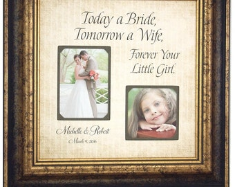 Wedding Gifts for Parents, Bride, Groom, MOM DAD, Sign, Frame, Father of The Bride, Mother of The Bride, Reception, Shower, 16 X 16