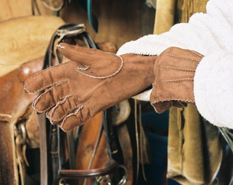RawCo. Fully Lined Sheep Skin Riding Gloves Driving gloves
