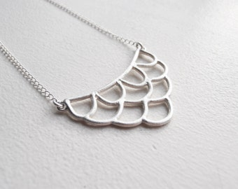 Necklace - handmade sterling silver lace necklace LN05