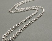 Sterling silver Chain - .925 - Rollo Chain - Necklace - Jewelry Supplies - Men - Women - Silver Chain
