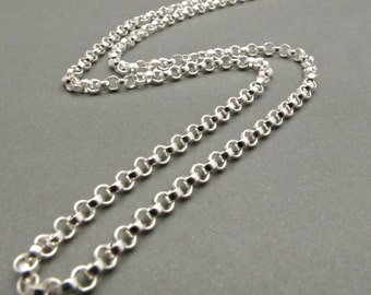 Sterling silver Chain - .925 - Rollo Chain - Necklace - Jewelry Supplies - Men - Women - Silver Chain