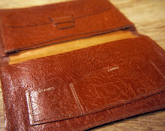 Vintage Light Tan Leather Wallet c.1970s