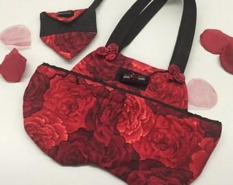 Red Rose Garden Handbag