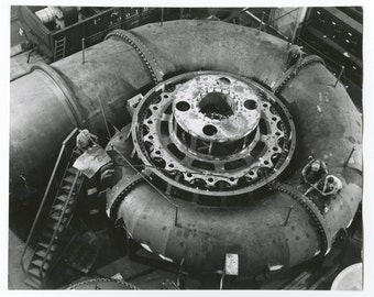 Vintage Machinery - Hydraulic Turbine - Vintage 8x10 Photograph - Milwaukee