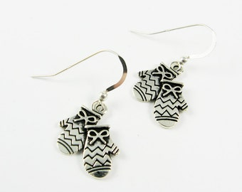 Christmas Mitten Earrings - Winter Jewelry - Teen or Tween Stocking Stuffer or Secret Santa Gift