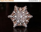 THANKSGIVING SALE Indian Wood Stamps, Batik Stamps, Tjaps, Wood Block Stamps, Textile Stamps, Pottery Stamps- Snowflake