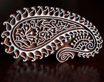 Indian wood stamp, Pottery stamp, Textile stamp, Blockprint stamp, Handprint Stamp- Paisley