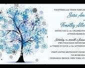 Custom listing for sas32281 - Winter Wonderland Tree invitation