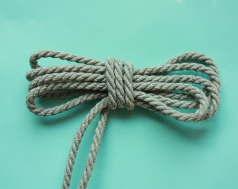 4 mm Linen Rope = 110 Yards = 100 Meters of Natural Linen Cord - Natural Color - Organic Natural Fiber Cord - Decorative Rope