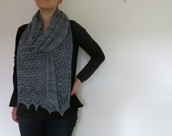 PATTERN Lace Scarf Knitting Pattern / Lace Shawl Knitting Pattern / Lace Wrap Knitting Pattern