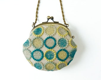 Dandelions Lace Coin Purse with Chain