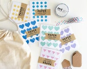 VALUE PACK! Stickers, tags and washi tape / 480 Mini Stickers / MT washi tape / 25 blank gift tags / drawstring bag