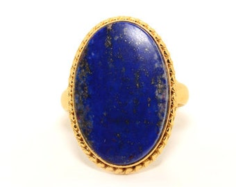 COA:NM Lapis Lazuli Sterling Silver Ring.