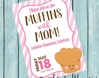 Muffins with Mom Printable Invitation