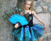 Peacock Feather Fan Accessory for Parties, Costumes, Halloween, Birthday Celebrations, Peacock Theme Party Prop, Photography Props