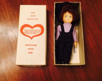 Vintage Amish Boy German Doll in Original Box 1960s