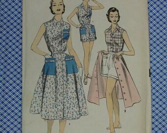 Vintage Pattern c.1950's Advance No.7049 Shirt,Shorts,Skirt, Size 16 Uncut