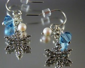 Sterling and Swarovski Snowflake Earrings Private listing please do not purchase