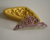 Tiara mold for cake decorating, chocolate, polymer clay, gumpaste, princess cakes, M5059