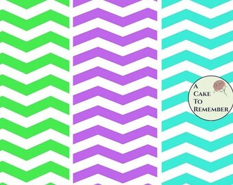 Digital download--Printable chevron wafer paper file for cake decorating or cupcake decorating