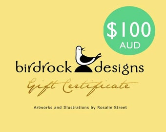 Gift Certificate / Voucher 100 Dollars AUD